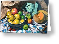 Bowl Of Friut Greeting Card by Kevin Lawrence Leveque