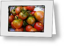 Bowl Of Heirloom Tomatoes Greeting Card