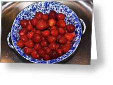 Bowl Of Strawberries 1 Greeting Card by Douglas Barnett