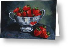 Bowl Of Strawberries  Greeting Card