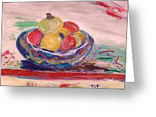Bowl On A Red Edge Greeting Card