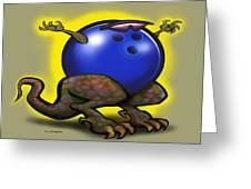 Bowling Beast Greeting Card