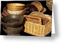 Bowls And Baskets Greeting Card
