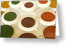 Bowls Of Spices - India Greeting Card