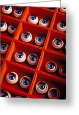 Box Full Of Doll Eyes Greeting Card