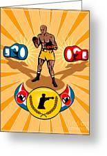 Boxer Boxing Poster Greeting Card by Aloysius Patrimonio