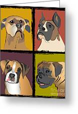Boxer Dog Portraits Greeting Card by Robyn Saunders