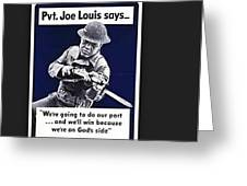 Boxer Joe Lewis As Army Private Poster 1942 Color And Frame Added 2016 Greeting Card