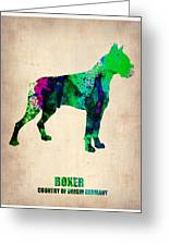 Boxer Poster Greeting Card