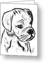Boxer Pup Greeting Card