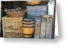 Boxes And Baskets Greeting Card