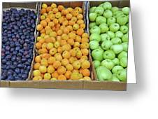 Boxes Of Fruit Greeting Card