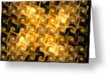 Boxes Yellow Art Greeting Card