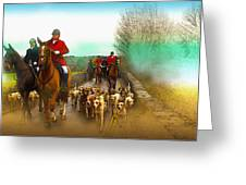 Boxing Day Hunt Greeting Card