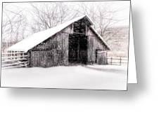 Boxley Snow Barn Greeting Card