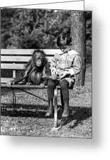 Boy And Orangutan Greeting Card
