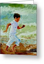 Boy By The Sea Greeting Card
