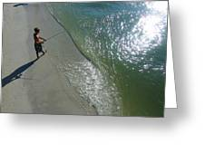 Boy Fishing On Captiva Greeting Card