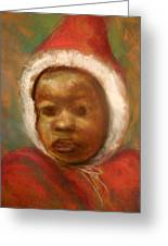 Boy In Red Greeting Card