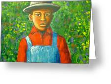'boy In The Woods' Greeting Card