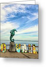 Boy On The Seahorse Greeting Card