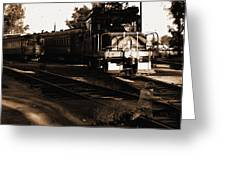 Boy On The Tracks Greeting Card
