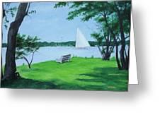Boy Scout Island Greeting Card