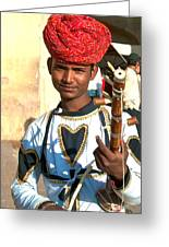 Boy With A Flute Greeting Card