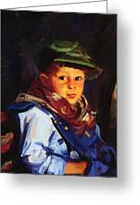 Boy With A Green Cap Also Known As Chico 1922 Greeting Card
