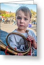 Boy With A Horn _ Nola Greeting Card