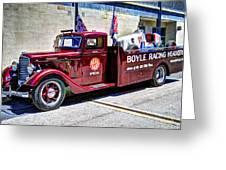 Boyle Racing Headquarters  Greeting Card