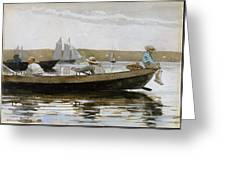 Boys In A Dory, By Winslow Homer, Greeting Card