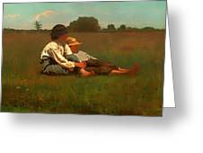 Boys In A Pasture Greeting Card