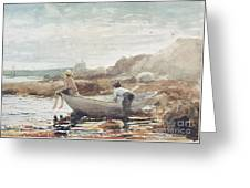 Boys On The Beach Greeting Card