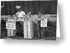 Boys Selling Lemonade, C.1940s Greeting Card