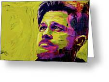 Brad Pitt Fury Greeting Card