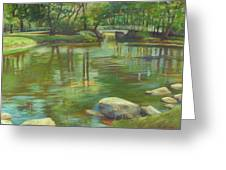 Bradford Ma College Pond Greeting Card