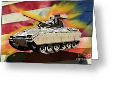 Bradley M2 Fighting Vehicle Greeting Card