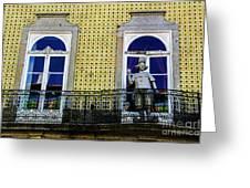 Braga Balcony Greeting Card