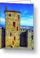 Braganca Castle Tower Greeting Card