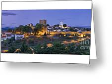 Braganca Dusk Panorama Greeting Card