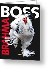 Brahma Boss II T-shirt Print Greeting Card