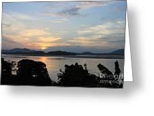 Brahmaputra Sunset Greeting Card