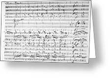 Brahms Manuscript Greeting Card