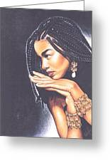 Braided Beauty Greeting Card by Charlene Cooper