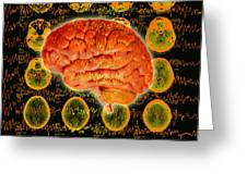 Brain Composite Greeting Card