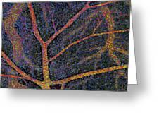 Brain Tissue Blood Supply Greeting Card