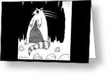 Brains Brewing Noon Raccoon Design By Warwickart Greeting Card