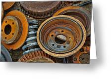 Brake Drums - Disc Brakes - Shock Assembly Greeting Card