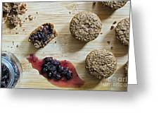 Bran Muffins With Mulberry Jam Greeting Card